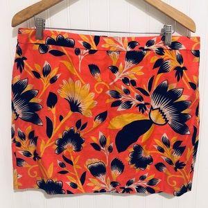 J. Crew summer print linen summer Skirt 12